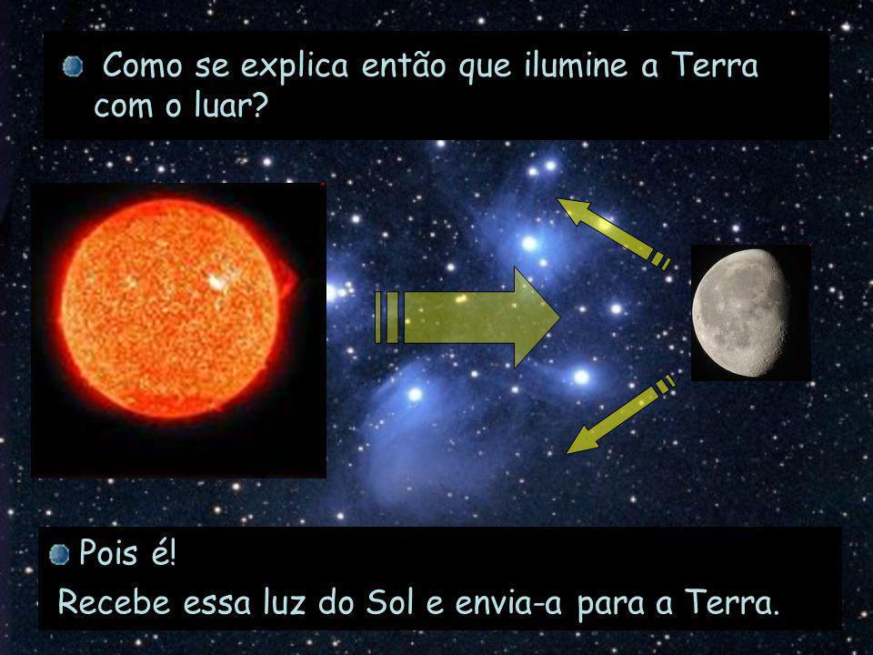 Como se explica então que ilumine a Terra com o luar