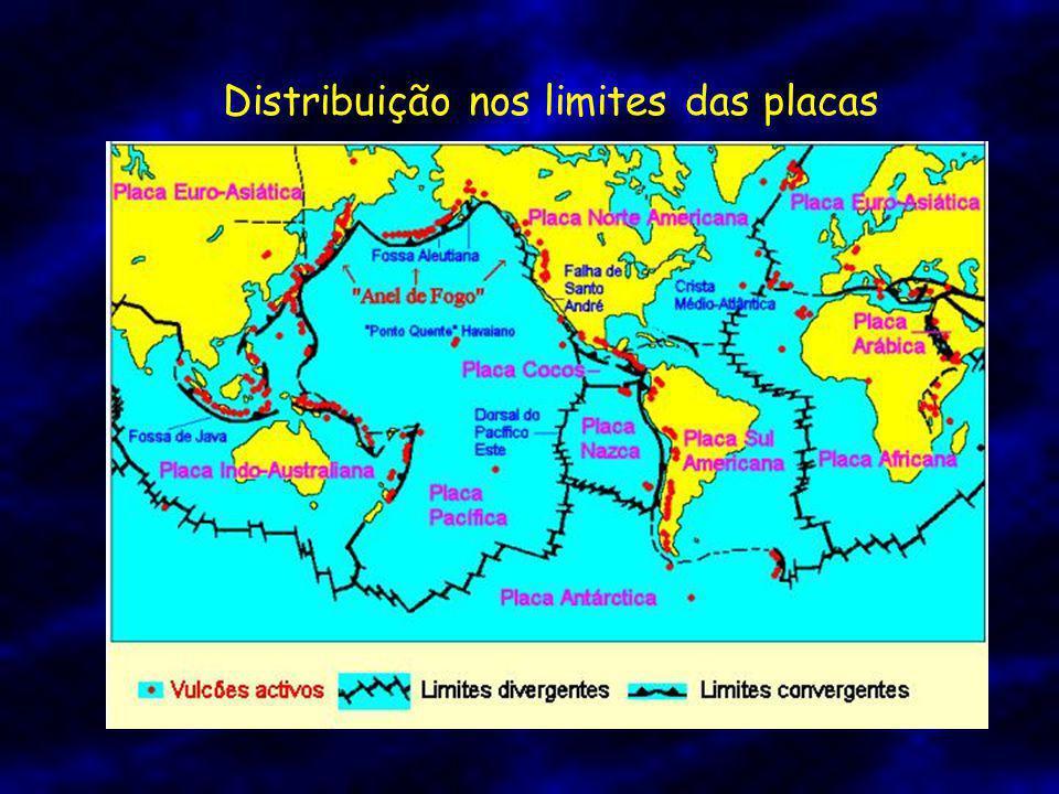 Distribuição nos limites das placas