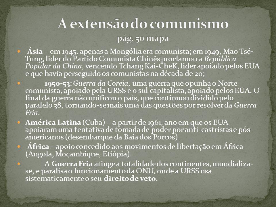 A extensão do comunismo pág. 50 mapa