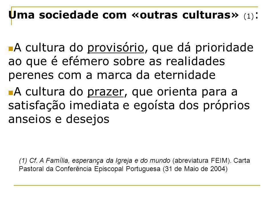 Uma sociedade com «outras culturas» (1):