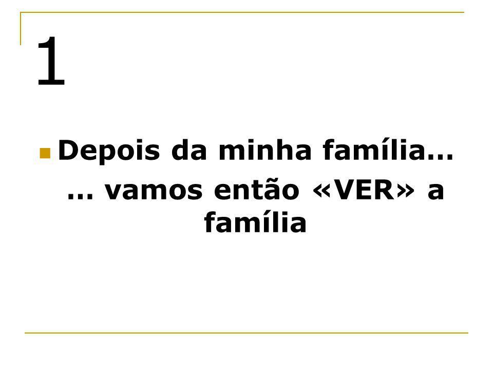 Depois da minha família… … vamos então «VER» a família