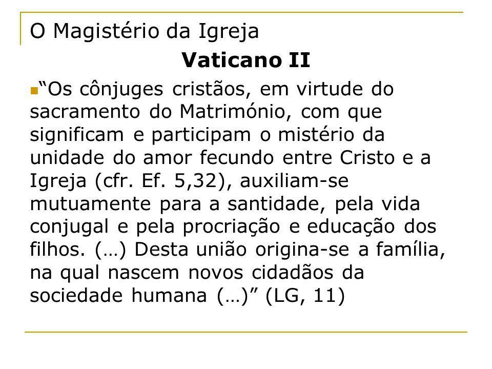 O Magistério da Igreja Vaticano II