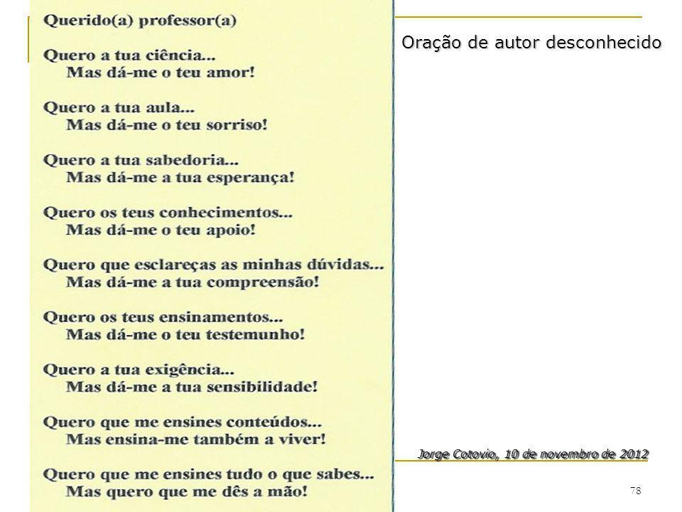 Jorge Cotovio, 10 de novembro de 2012