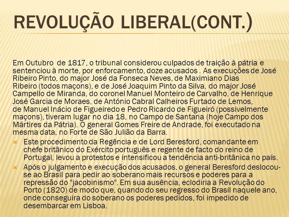 Revolução liberal(CONT.)