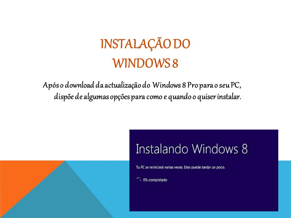 Instalação do Windows 8