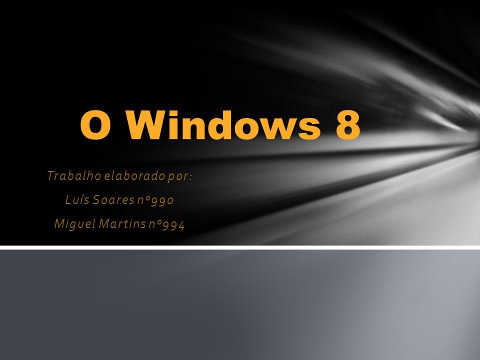Trabalho elaborado por: Luís Soares nº990 Miguel Martins nº994