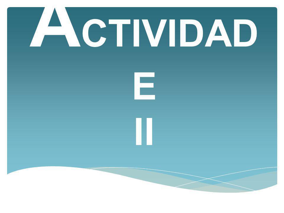 ACTIVIDADE II