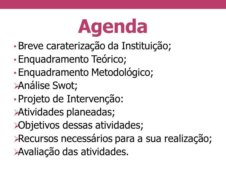 Agenda Breve caraterização da Instituição; Enquadramento Teórico;