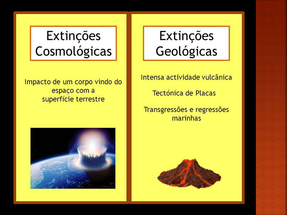 Extinções Cosmológicas Extinções Geológicas