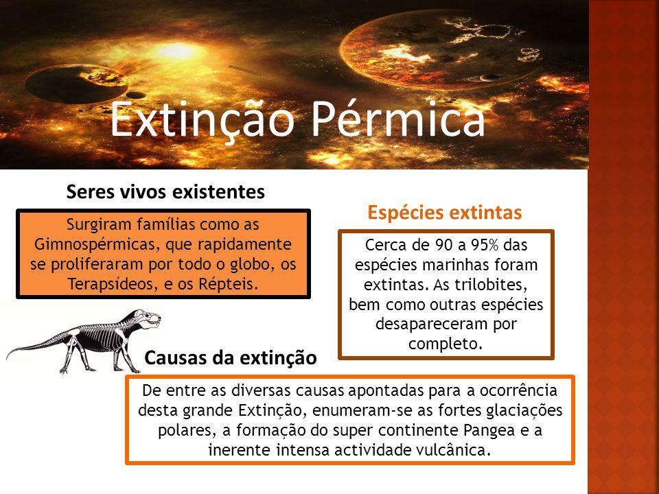 Extinção Pérmica Seres vivos existentes Espécies extintas