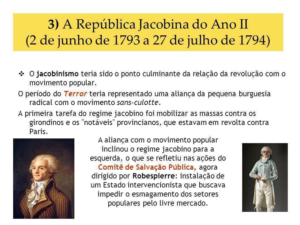 3) A República Jacobina do Ano II (2 de junho de 1793 a 27 de julho de 1794)
