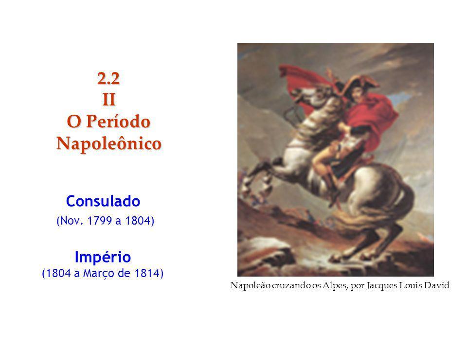 Consulado (Nov. 1799 a 1804) Império (1804 a Março de 1814)