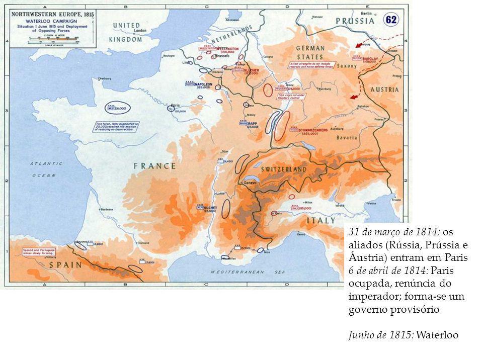 31 de março de 1814: os aliados (Rússia, Prússia e Áustria) entram em Paris