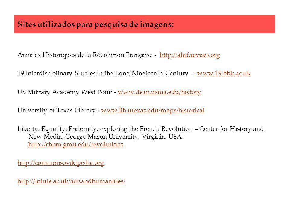 Sites utilizados para pesquisa de imagens: