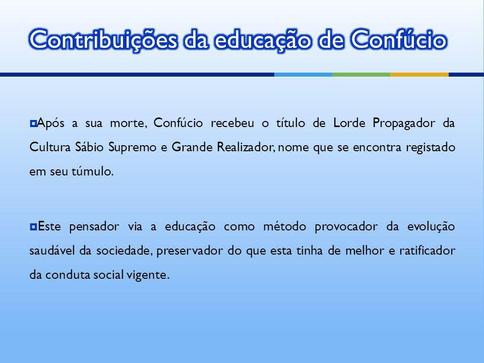 Contribuições da educação de Confúcio