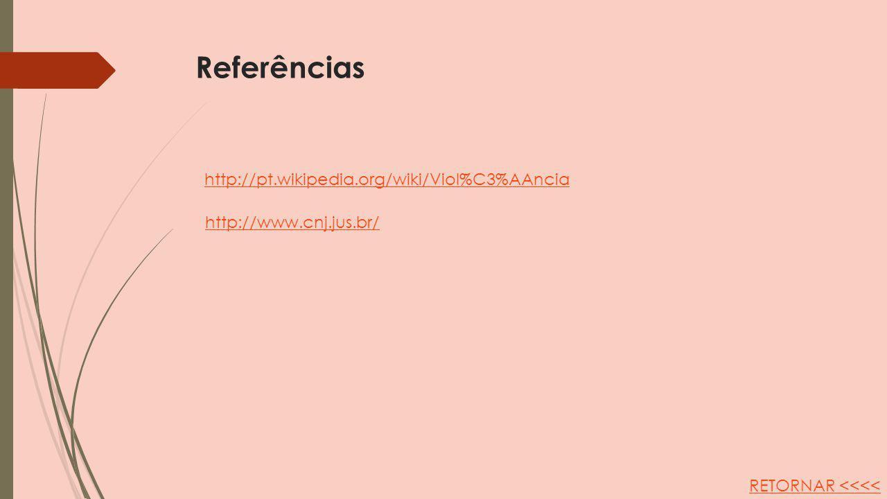 Referências http://pt.wikipedia.org/wiki/Viol%C3%AAncia