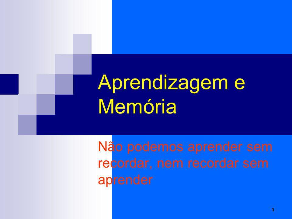 Aprendizagem e Memória