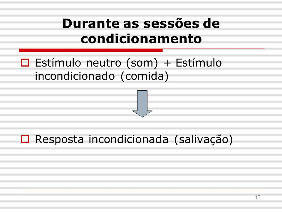 Durante as sessões de condicionamento