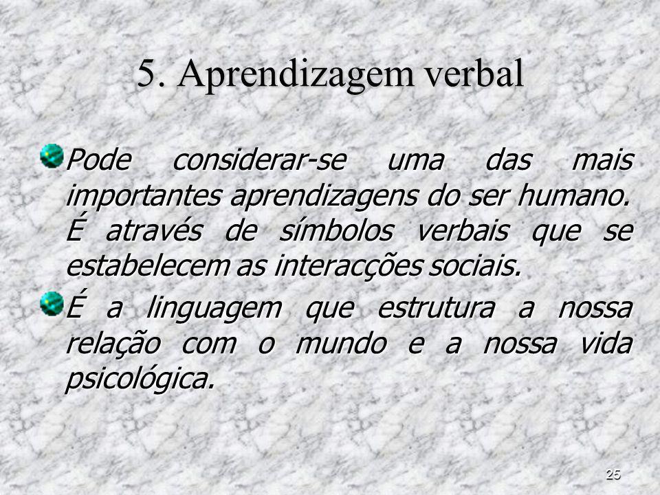 5. Aprendizagem verbal