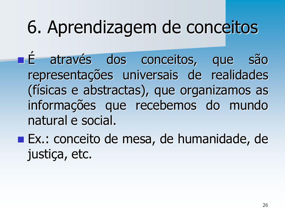 6. Aprendizagem de conceitos