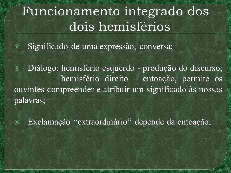 Funcionamento integrado dos dois hemisférios