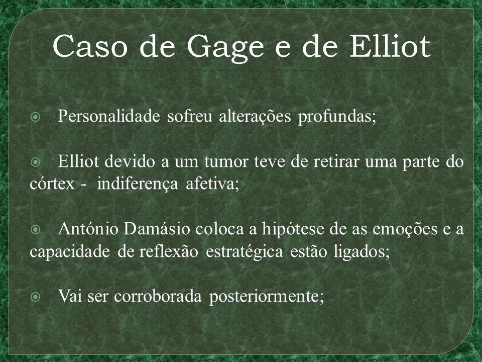Caso de Gage e de Elliot Personalidade sofreu alterações profundas;