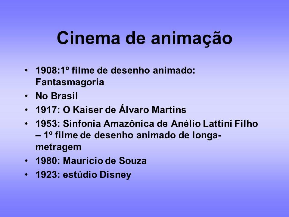 Cinema de animação 1908:1º filme de desenho animado: Fantasmagoria