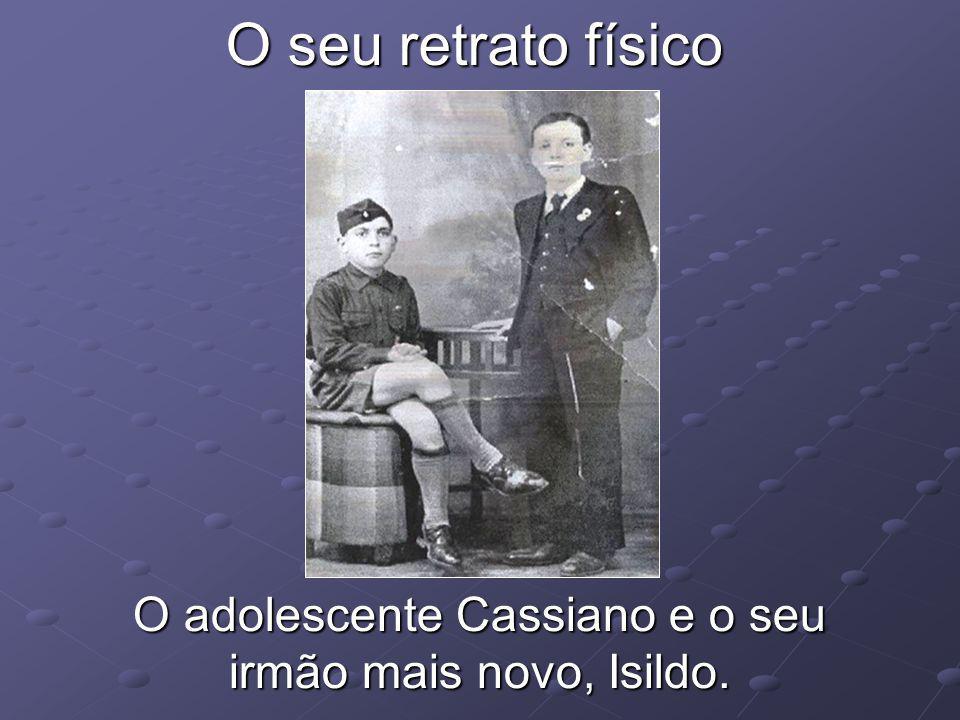 O adolescente Cassiano e o seu irmão mais novo, Isildo.