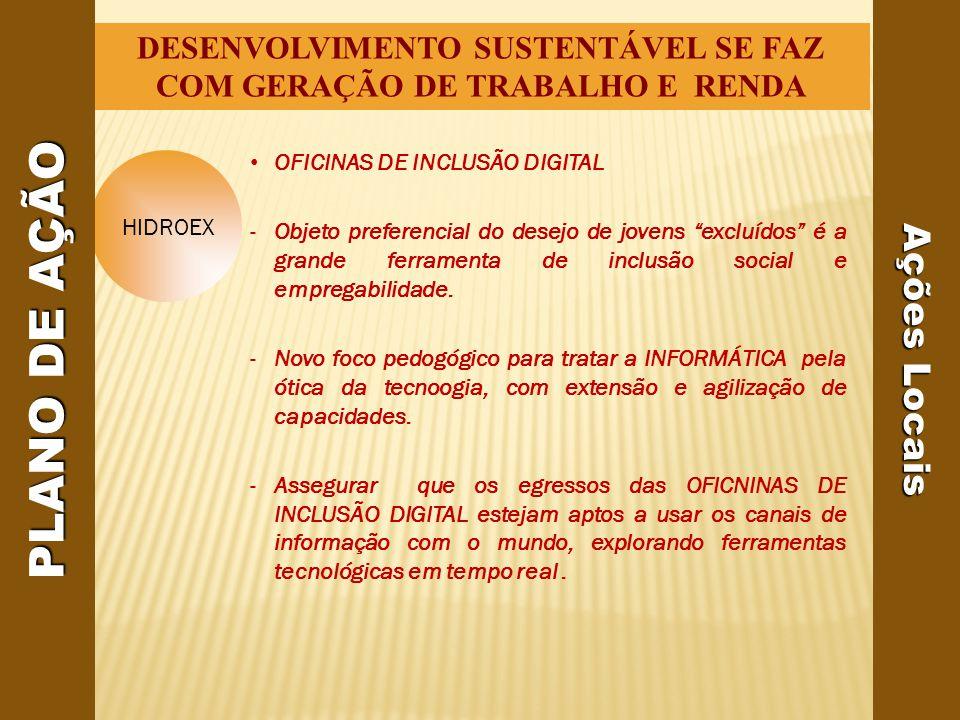 DESENVOLVIMENTO SUSTENTÁVEL SE FAZ COM GERAÇÃO DE TRABALHO E RENDA