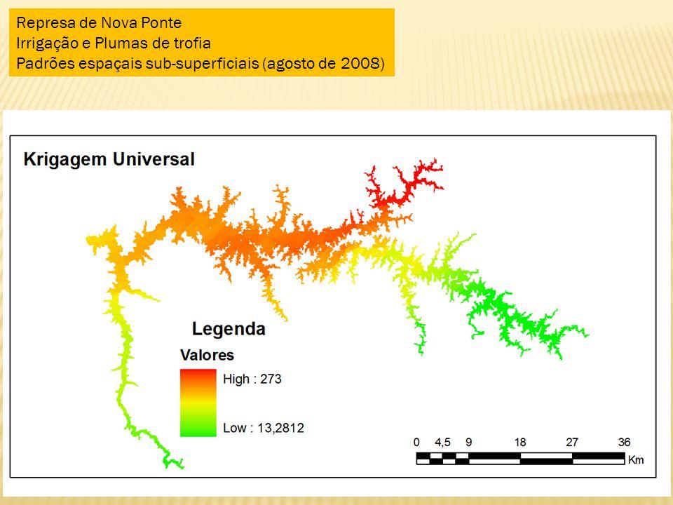 Represa de Nova Ponte Irrigação e Plumas de trofia.