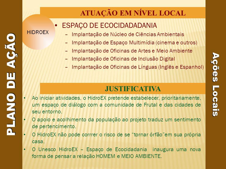 PLANO DE AÇÃO Ações Locais ATUAÇÃO EM NÍVEL LOCAL