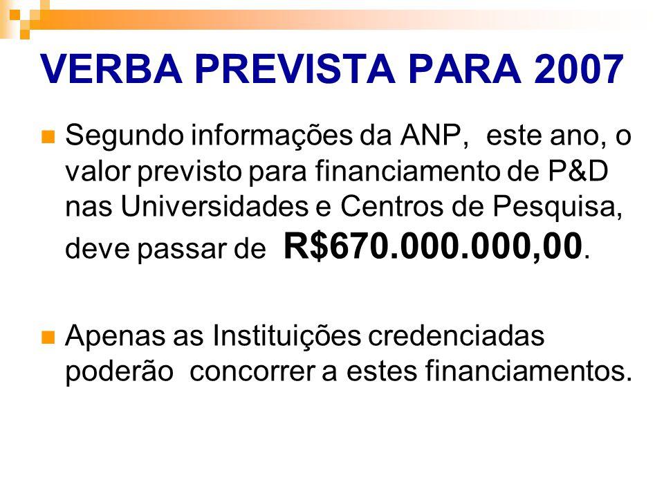 VERBA PREVISTA PARA 2007