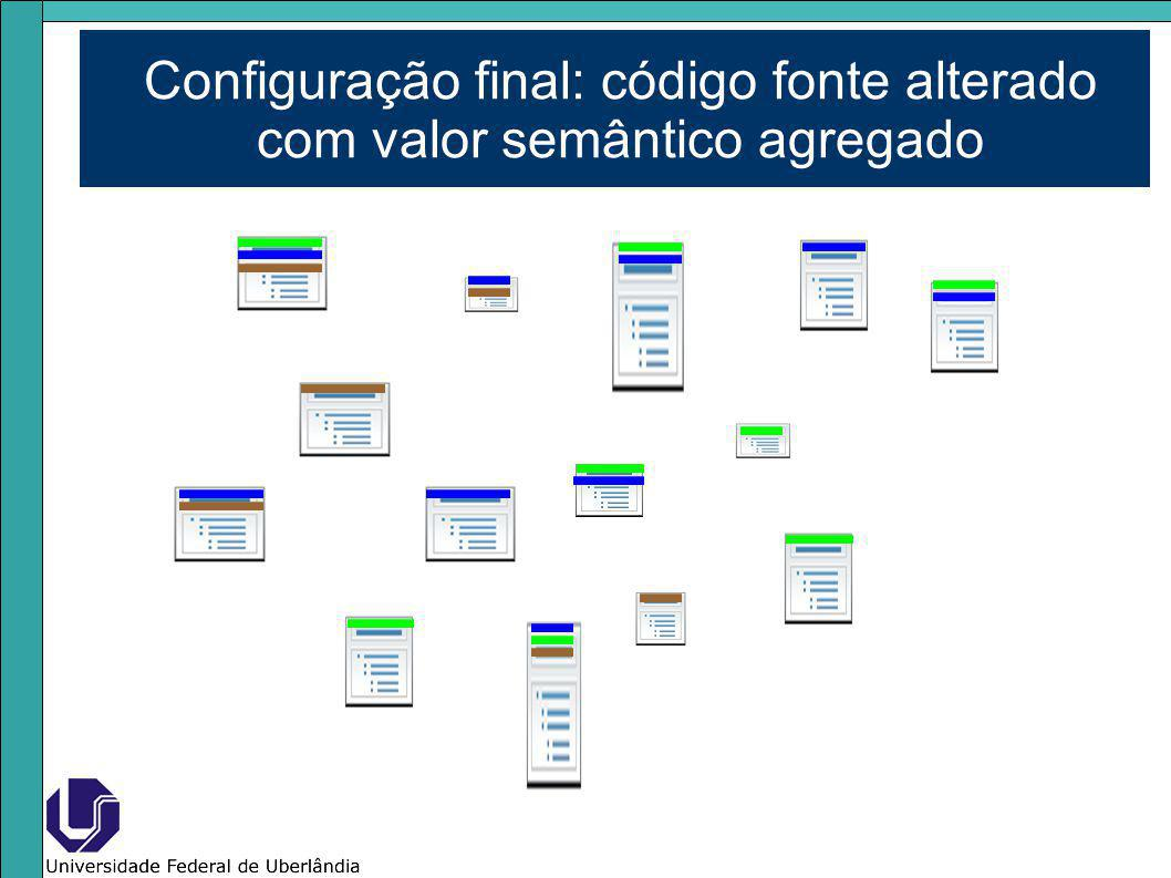 Configuração final: código fonte alterado com valor semântico agregado