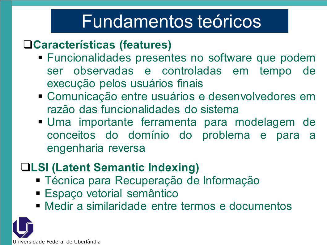 Fundamentos teóricos Características (features)