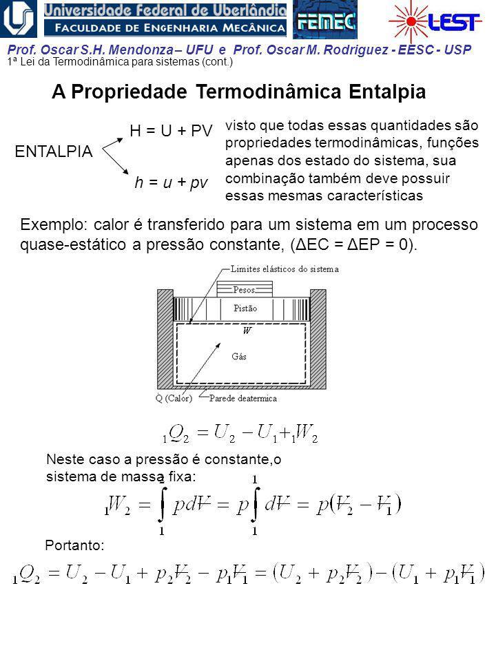 A Propriedade Termodinâmica Entalpia
