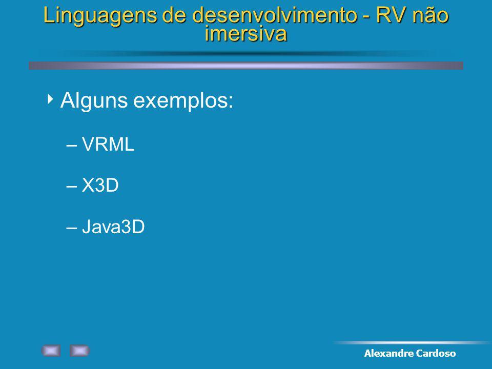 Linguagens de desenvolvimento - RV não imersiva