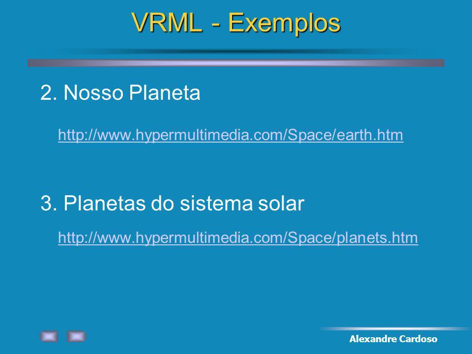 VRML - Exemplos 2. Nosso Planeta
