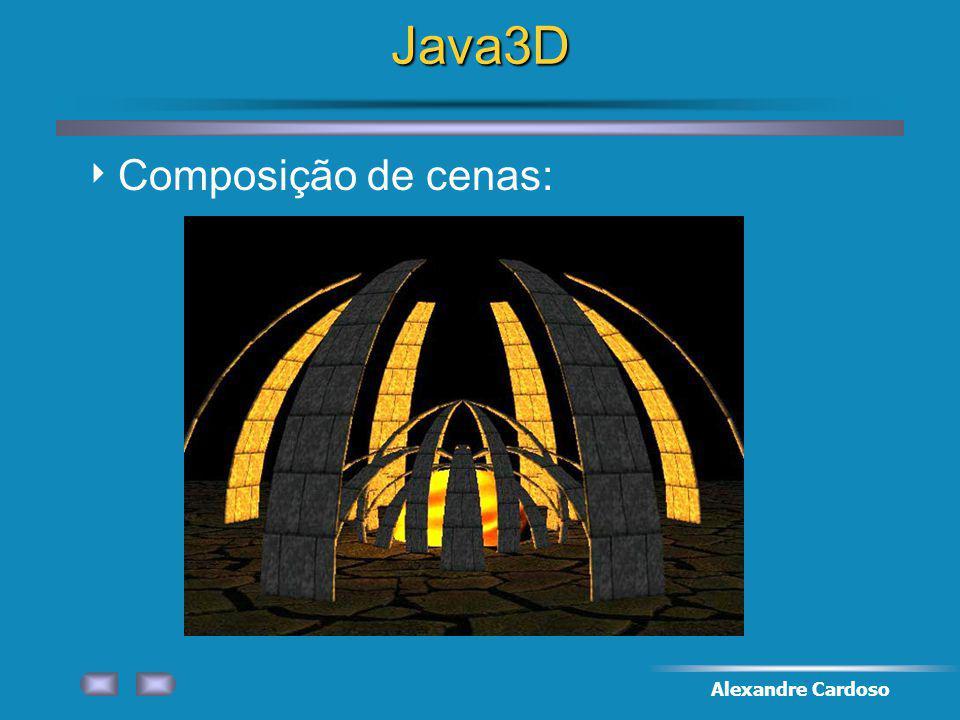 Java3D Composição de cenas: Alexandre Cardoso