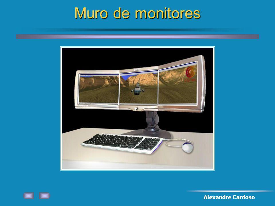 Muro de monitores Alexandre Cardoso