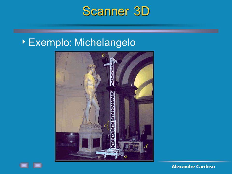 Scanner 3D Exemplo: Michelangelo Alexandre Cardoso