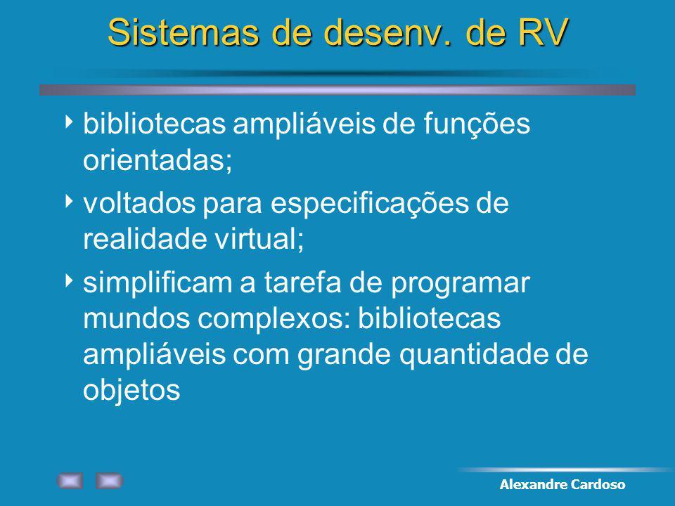 Sistemas de desenv. de RV