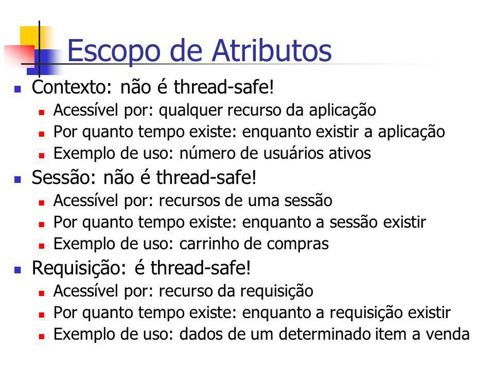 Escopo de Atributos Contexto: não é thread-safe!