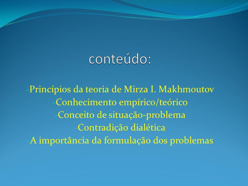 conteúdo: Princípios da teoria de Mirza I. Makhmoutov