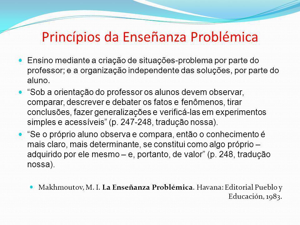 Princípios da Enseñanza Problémica
