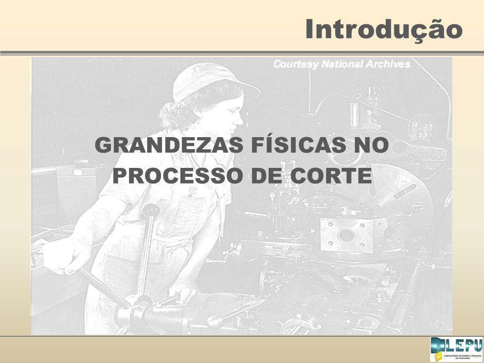 Introdução GRANDEZAS FÍSICAS NO PROCESSO DE CORTE