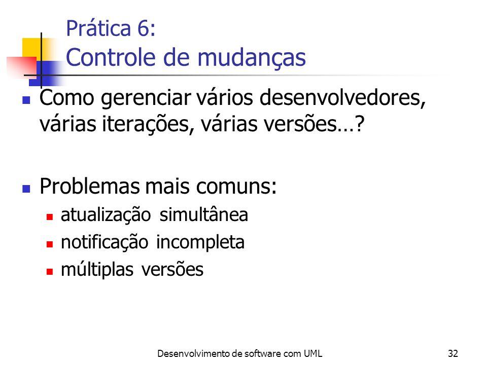 Prática 6: Controle de mudanças