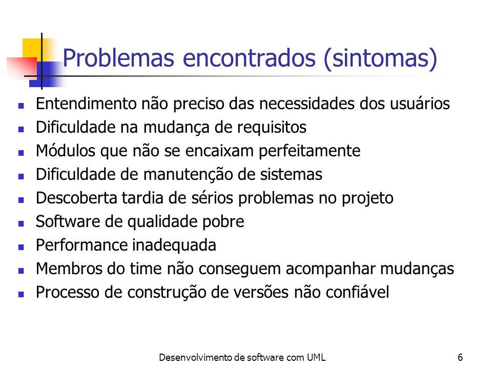 Problemas encontrados (sintomas)
