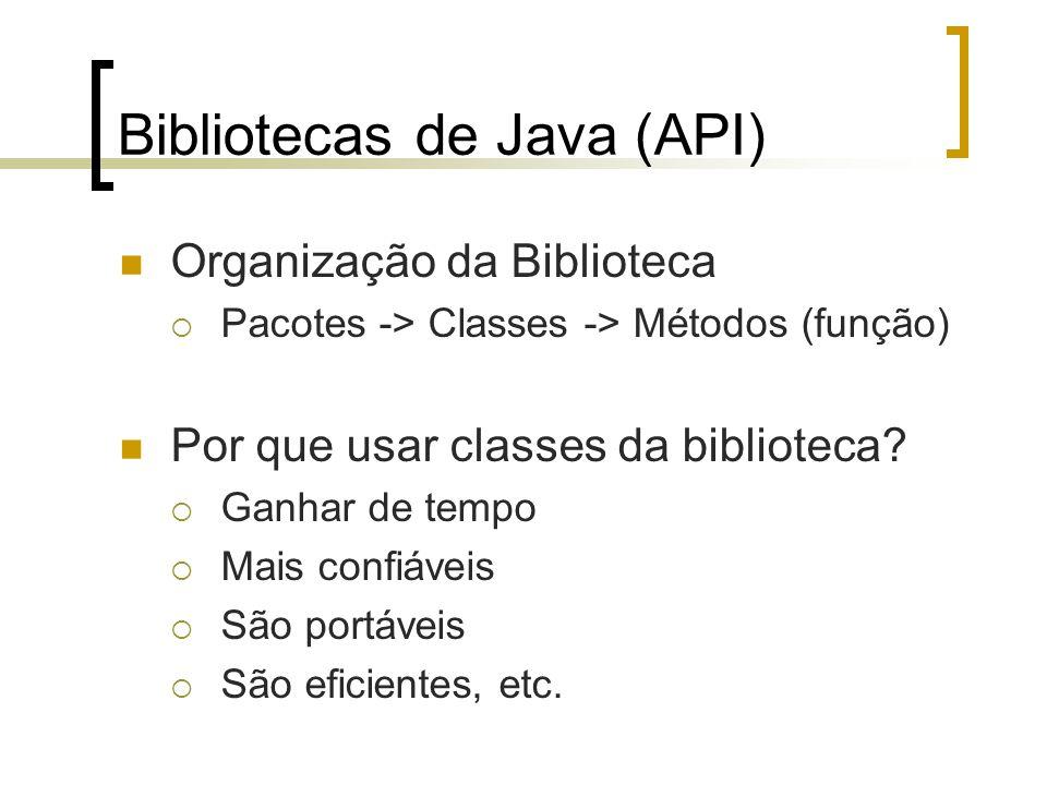 Bibliotecas de Java (API)