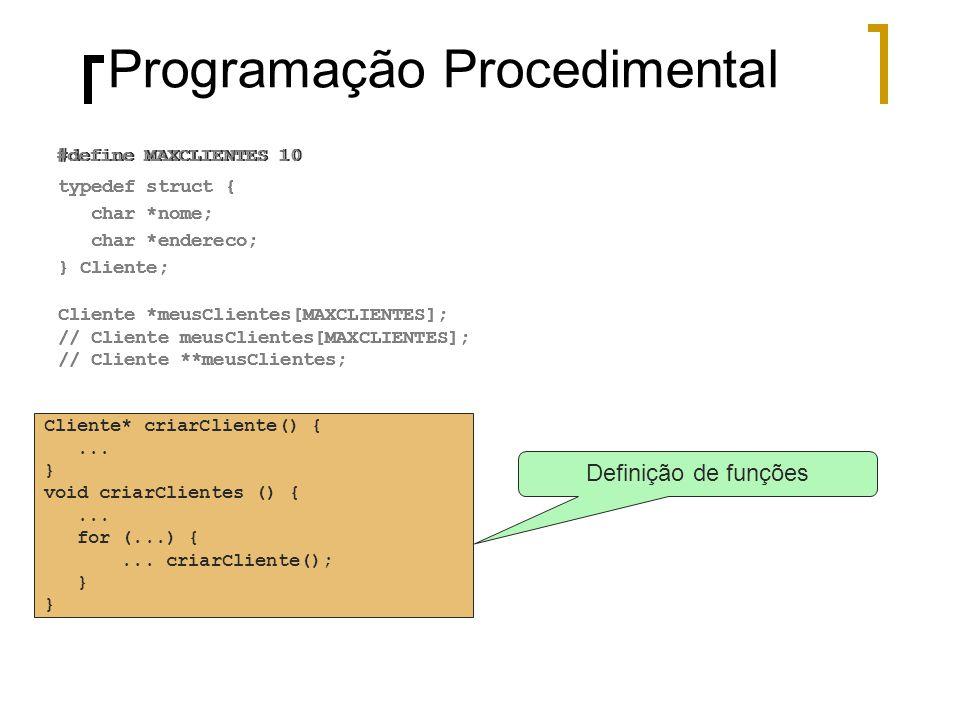 Programação Procedimental