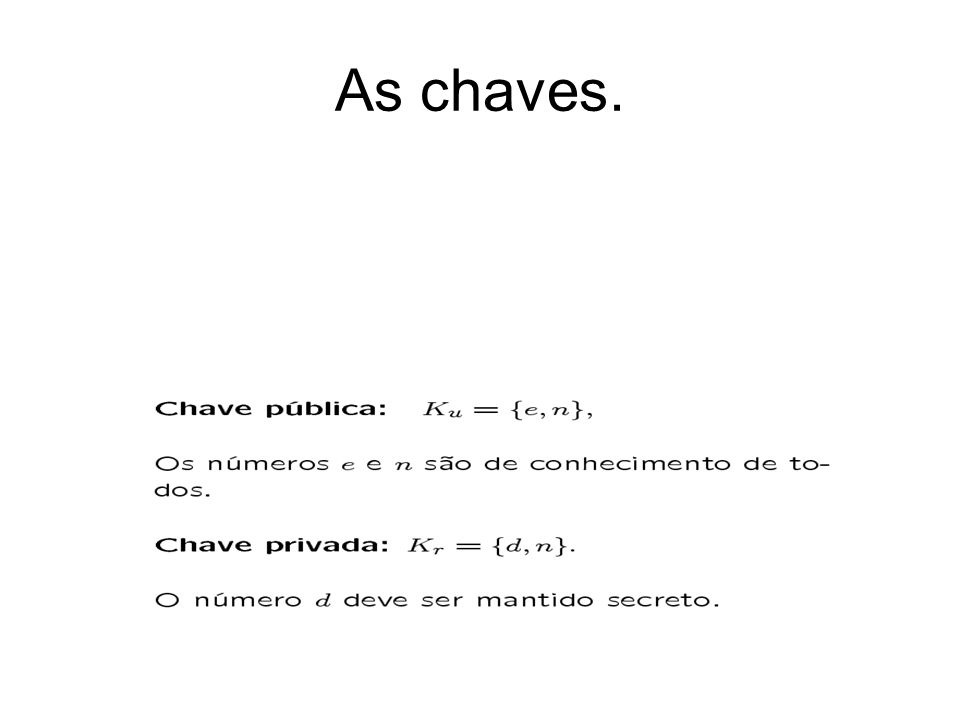 As chaves.